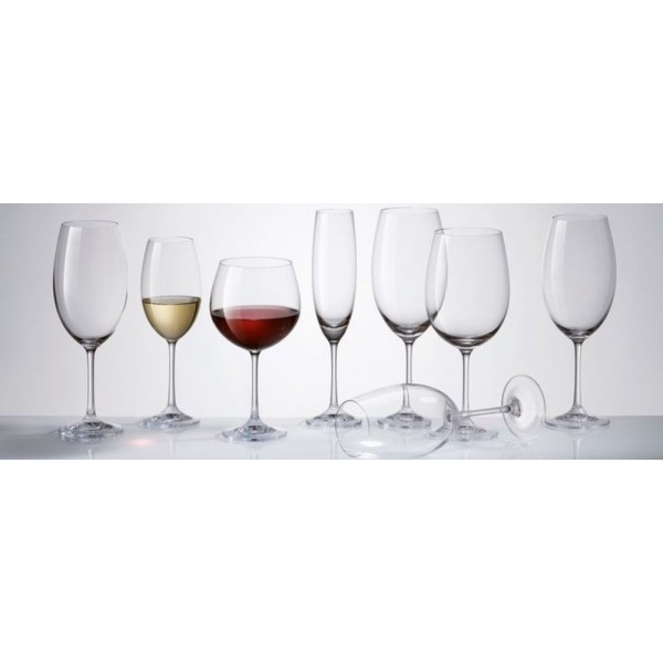 КРИСТАЛЕН КОМПЛЕКТ Чаши за Червено вино тип балон 460мл, BOHEMIA CRYSTALITE
