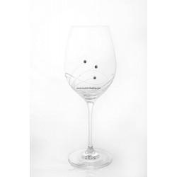 Сватбени чаши за вино с камъни Swarovski 350мл - 2 броя BOHEMIA