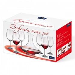Комплект включващ : декантер + чаши 6 бр