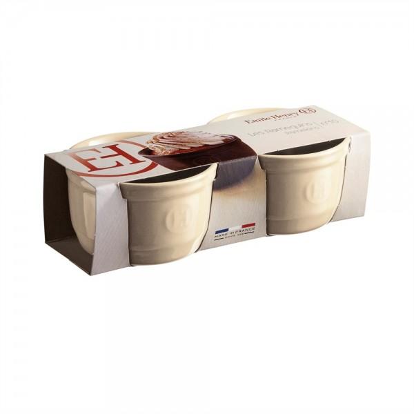 "EMILE HENRY Комплект 2 броя керамични купички / рамекини ""RAMEKINS SET N°10"" - екрю"
