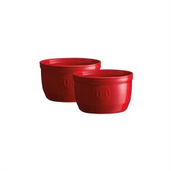 "EMILE HENRY Комплект 2 броя керамични купички / рамекини ""RAMEKINS SET N°10"" - червен"