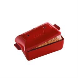 """EMILE HENRY Керамична правоъгълна форма за печене на хляб """"BREAD LOAF BAKER"""" - 28 х 13 х 12 см - червен"""