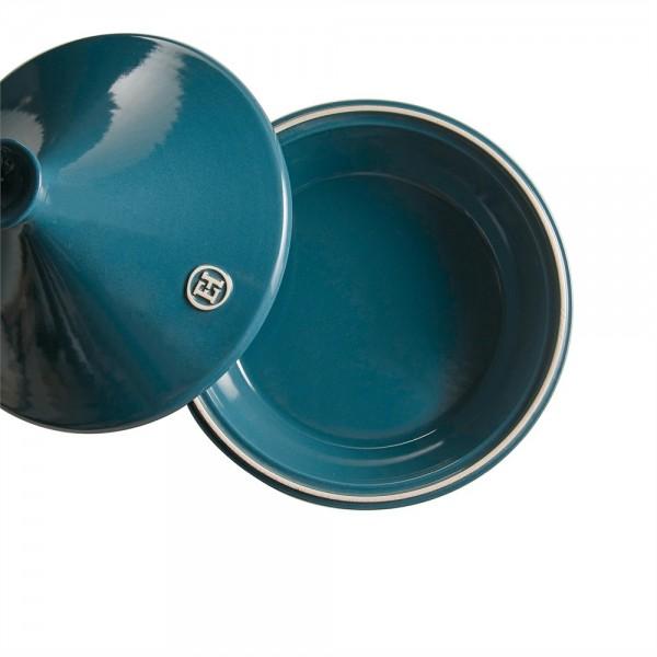 "EMILE HENRY Керамичен тажин ""TAGINE"", голям - Ø 32 см - синьо-зелен"