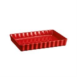 """EMILE HENRY Керамична форма за тарт """"DEEP RECTANGULAR TART DISH"""" - червен"""