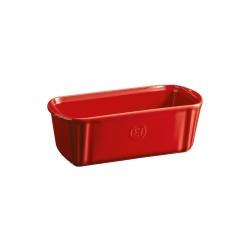 """EMILE HENRY Керамична провоъгълна форма за печене """"SMALL LOAF DISH"""" - 24 х 11 -червен"""
