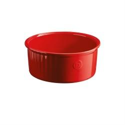 """EMILE HENRY Керамична купа за суфле """"SOUFFLE BAKING DISH"""" - Ø 23 см - червен"""