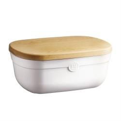 """EMILE HENRY Керамична кутия за хляб с дъска за рязане """"BREAD BOX"""" - бял"""