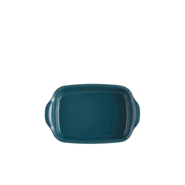 """EMILE HENRY Керамична тава """"INDIVIDUAL OVEN DISH""""- 22х15см - синьо-зелен"""