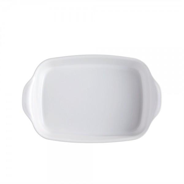 "EMILE HENRY Керамична тава ""RECTANGULAR OVEN DISH""- 36,5 х 23,5 см - бял"